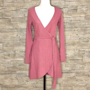 Forever 21 dusty rose wrap dress, NEW